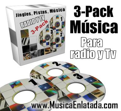 3pack Jingles, Música, Pistas para Radio y Televisión